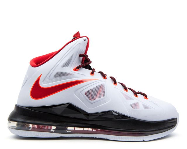 Shoes - Men - Basketball - Nike Lebron X - White Red Black - DTLR -