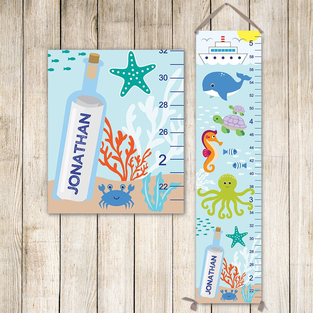 Under the sea canvas growth chart underwater growth chart under the sea canvas growth chart underwater growth chart nautical growth chart gc4002b nvjuhfo Image collections