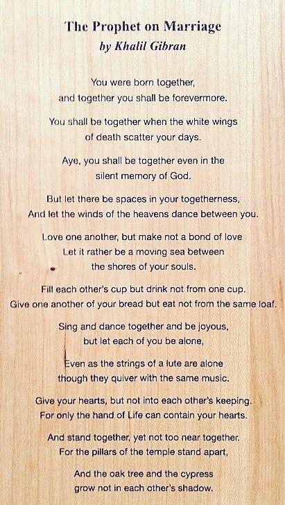 Kahlil Gibran Kahlil Gibran On Marriage Moments Quotes Kahlil Gibran
