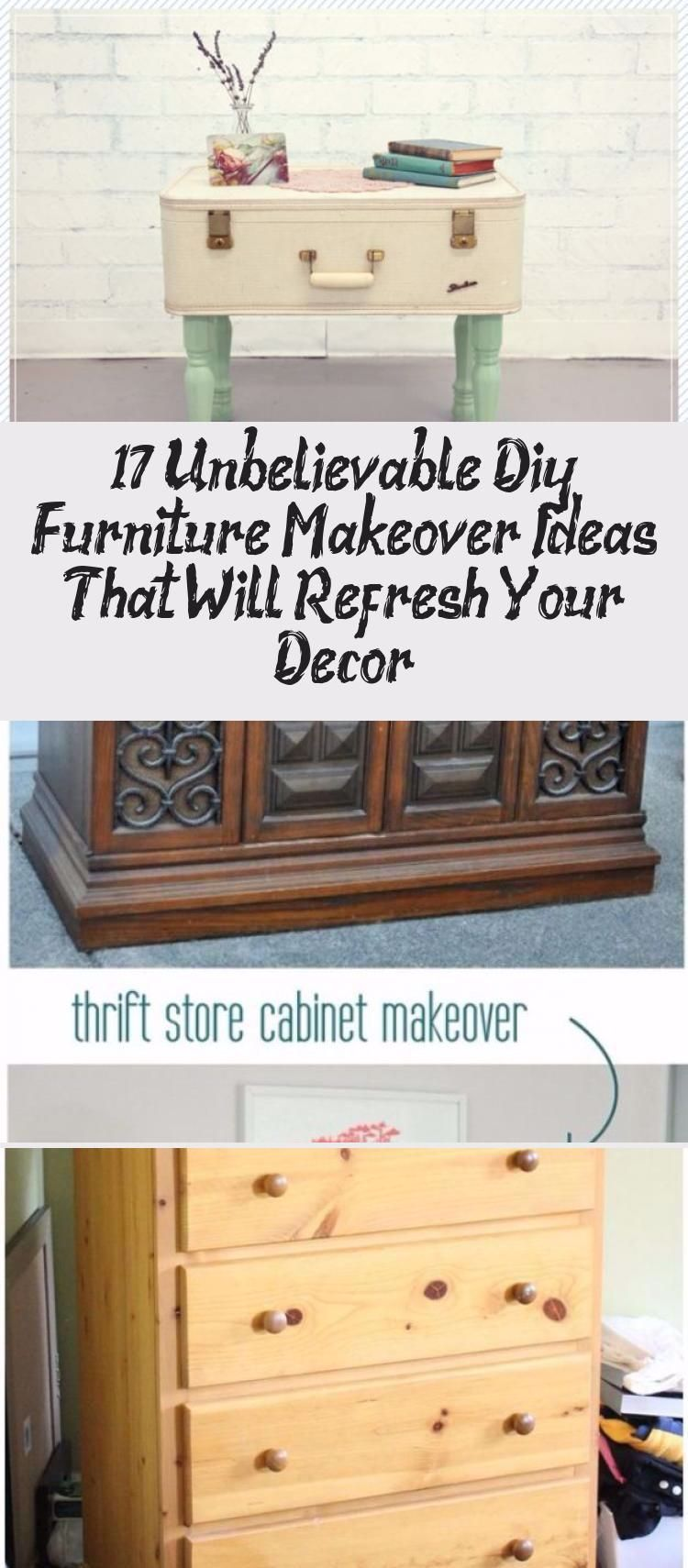 17 Unbelievable DIY Furniture Makeover Ideas That Will Refresh Your Decor #HomeDecorDIYRecycle