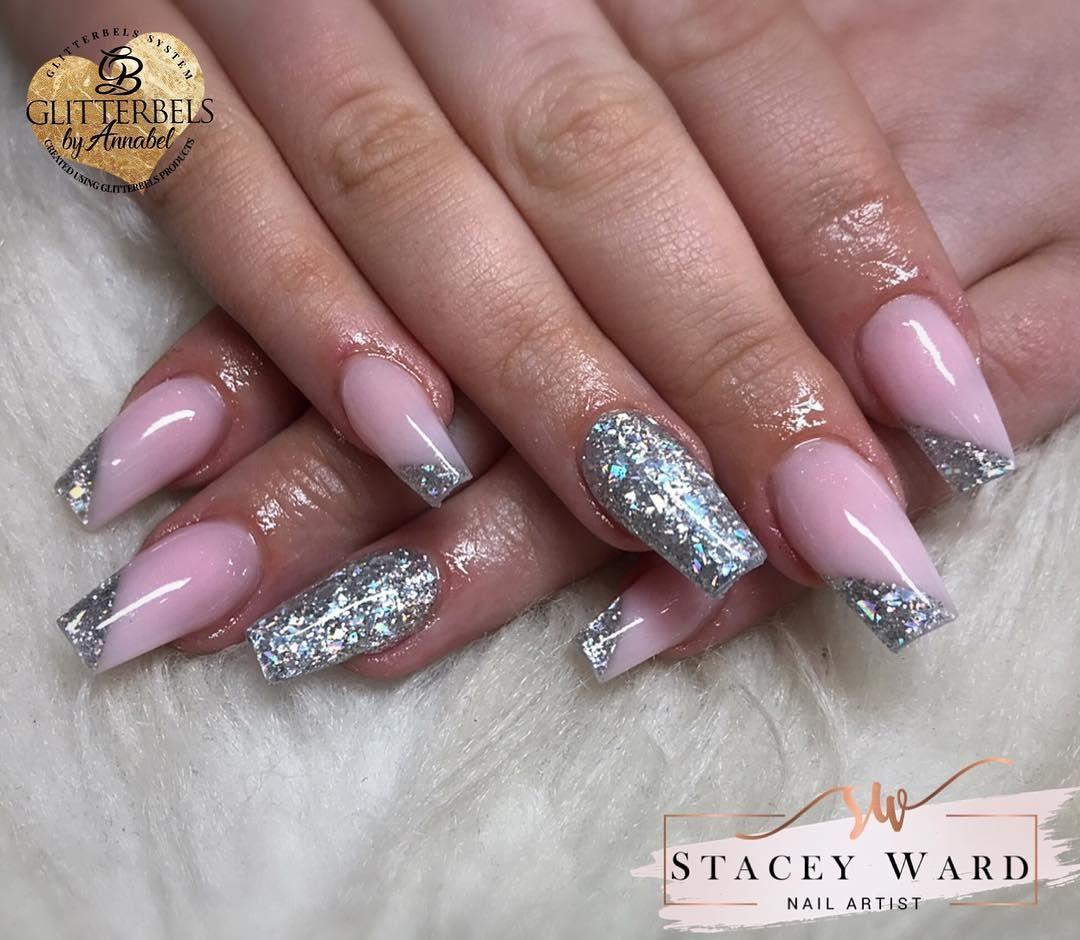 Pretty Bridesmaid Nails Today Using Glitterbels Pink Pastel And Jennifer Nails Acrylicnails Acrylicnailsdesign N Bridesmaids Nails Nails Today Nails