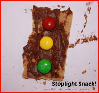 Stoplight snack for community helper week!