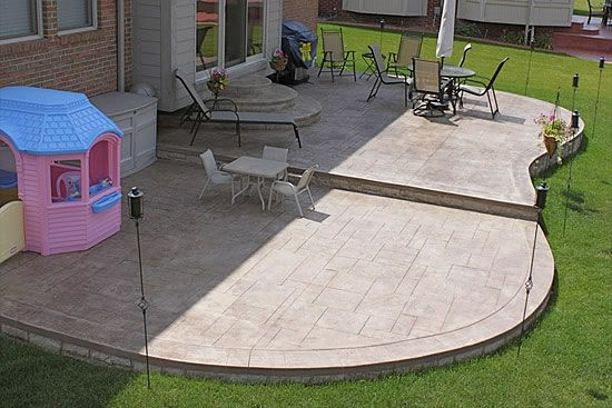 Biondo Cement Patios Gallery 24 Kidney Shape Two Level Patio