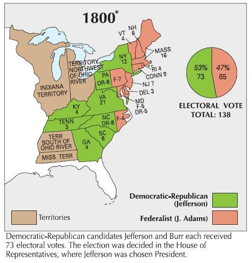 The Presidential Election Of 1800 Free Interactive Map Quiz