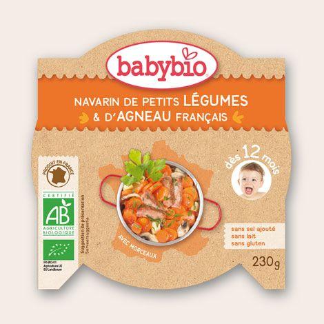 Mon p'tit Plat - Navarin de Petits Légumes & d'Agneau Français - dès 12 mois - Produit en France - Babybio