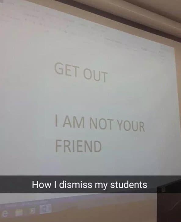 Wenn Sie vor Schulbeginn viele sinnlose Besprechungen haben.