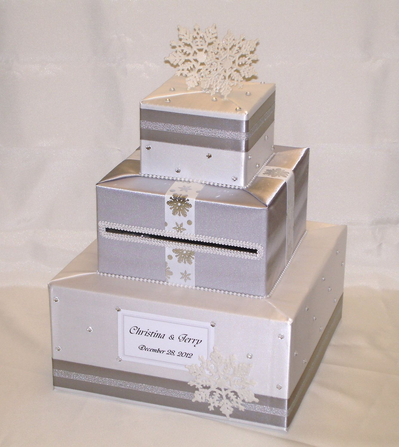 This handcrafted card box/money holder is the perfect touch for your ...