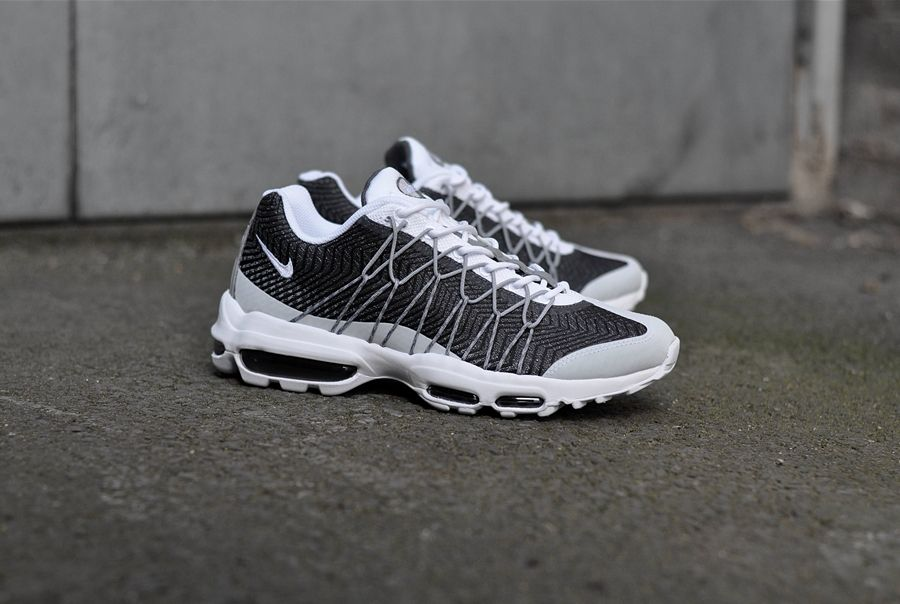 Nike Air Max 95 Ultra Jacquard Trainers In White | Cheap