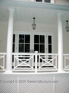 Verandah Railings Square Pattern Google Search Porch