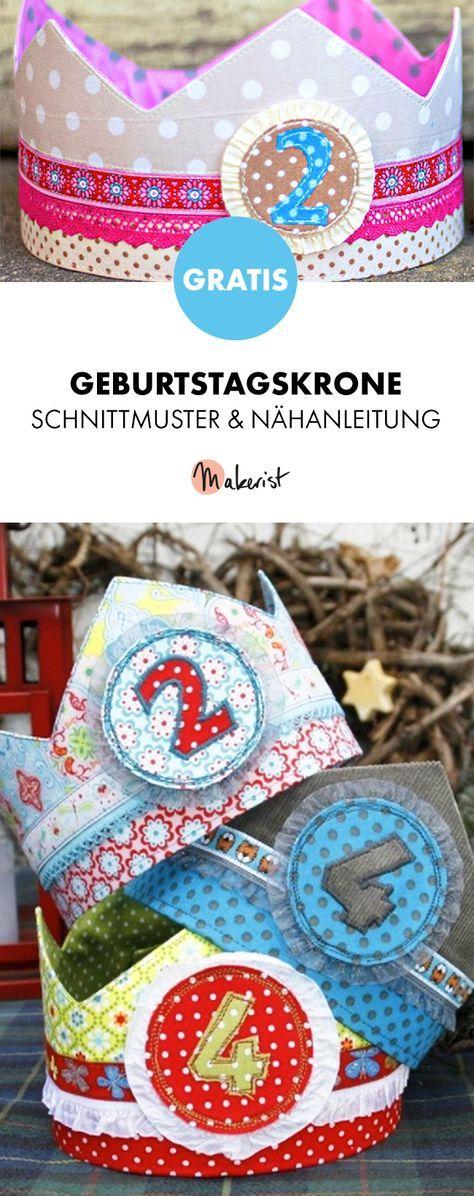 Photo of Gratis Anleitung: Krone nähen zum Kindergeburtstag – Schnittmuster und Nähanle…