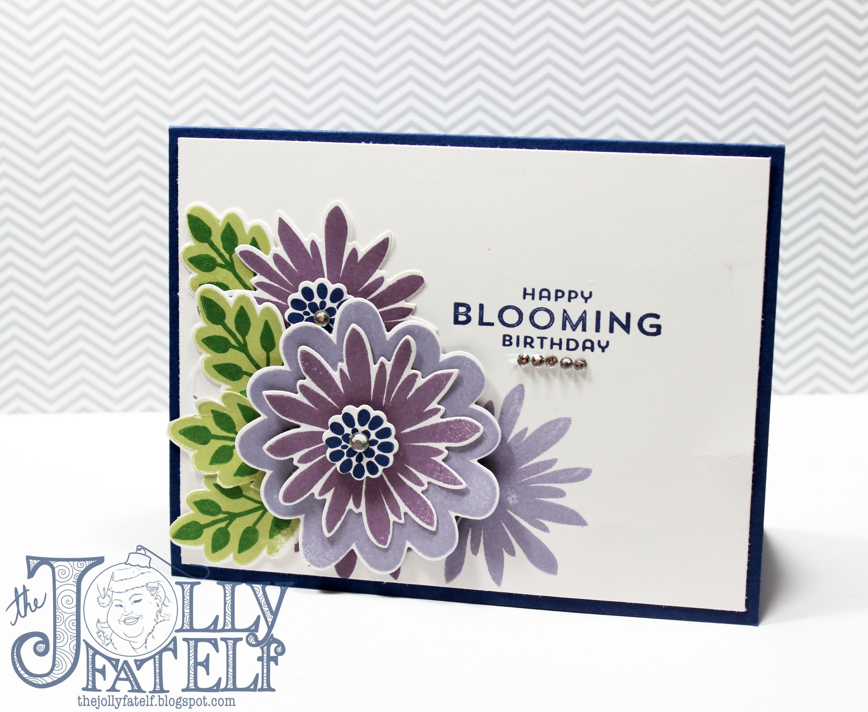 Flower Card Making Ideas Part - 37: Stampin Up! Flower Patch Birthday Card-VEDA Day 6