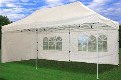 Amazon.com: 10\'x20\' Pop up 6 Wall Canopy Party Tent Gazebo Ez White ...