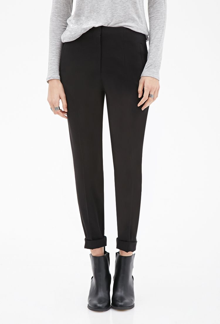 High-Waisted Trousers - Trousers - 2000056486 - Forever 21 EU