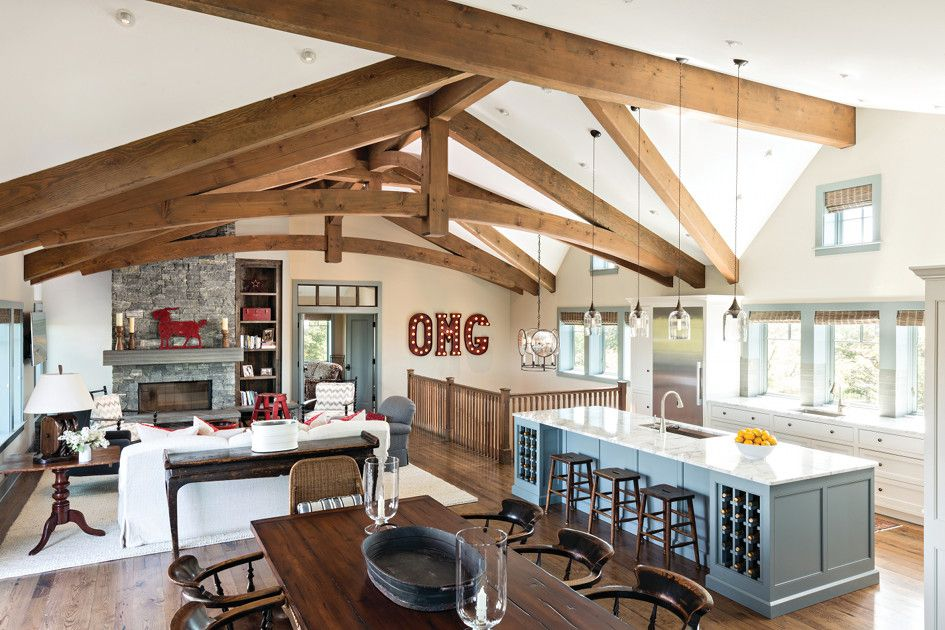 Timber Frame Timber Frame Home Interiors | New Energy Works