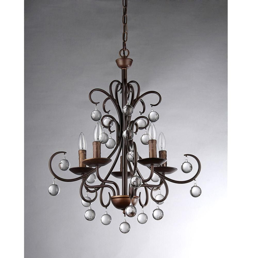 Warehouse of tiffany grace crystal drop curved 5 light antique warehouse of tiffany grace crystal drop curved 5 light antique bronze chandelier rl8054 arubaitofo Images