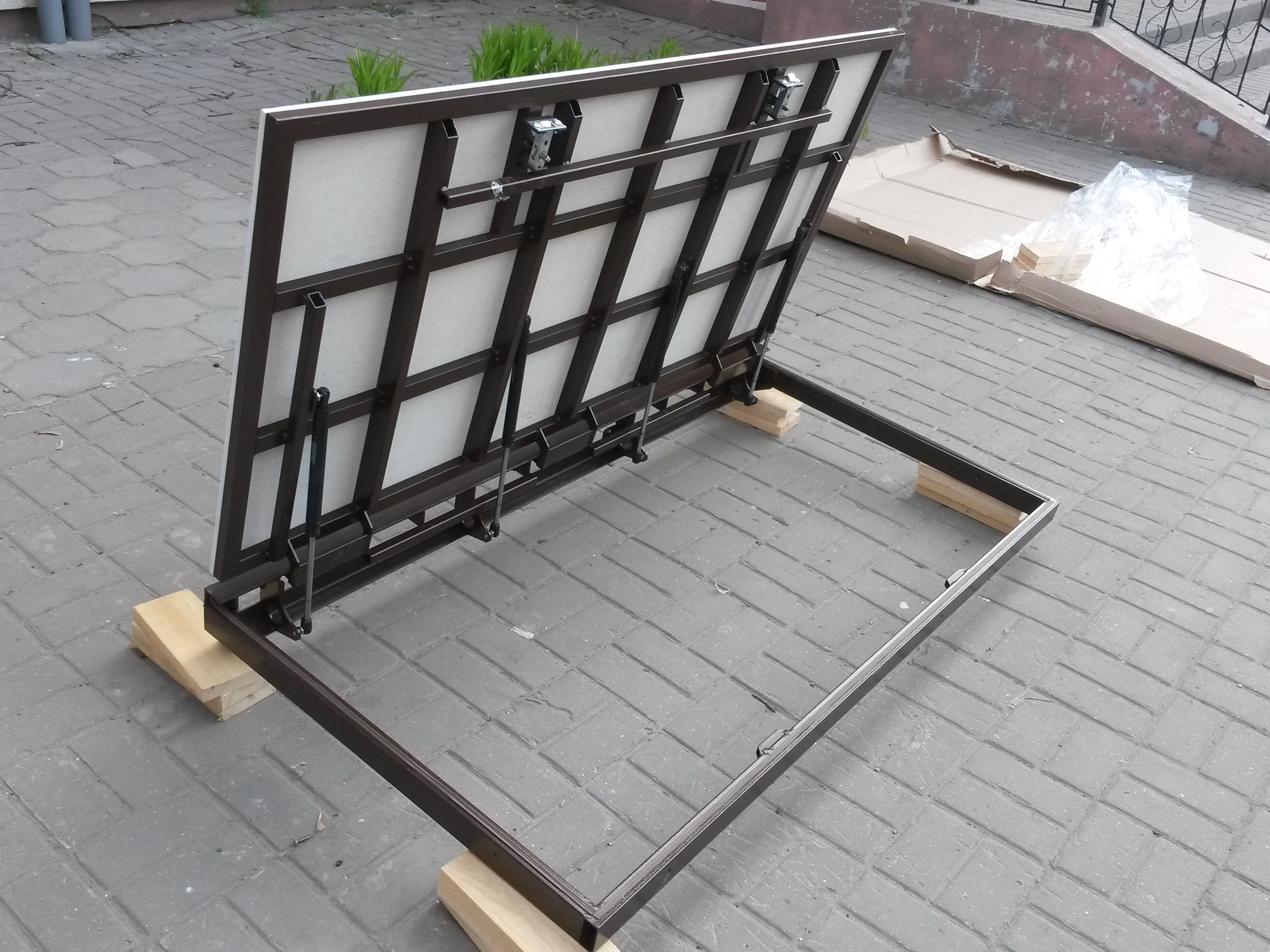 Metal floor hatch for tiles and la ...- Металлический ...