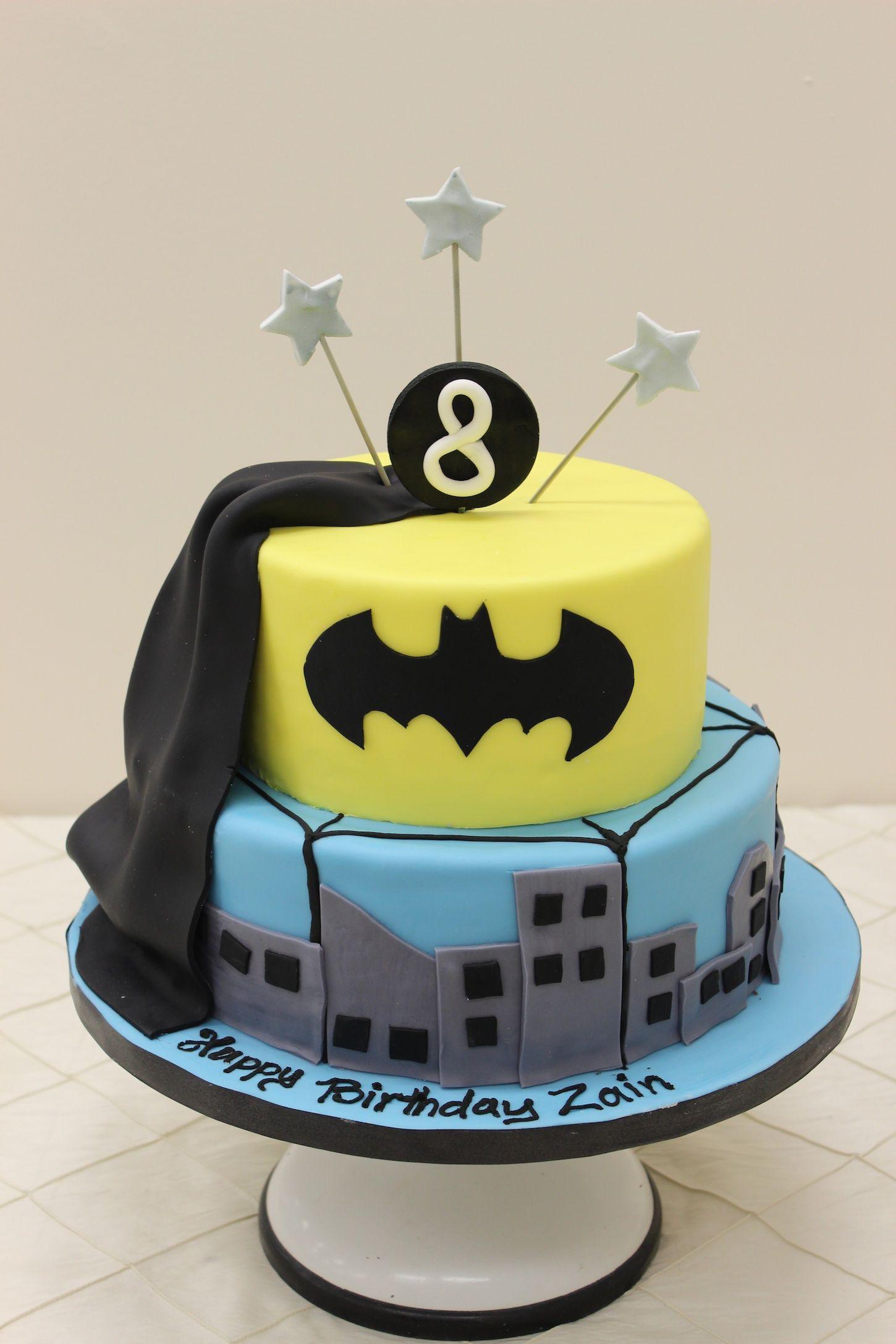 Easy Homemade Batman Cakes Simple Batman Cake, Batman