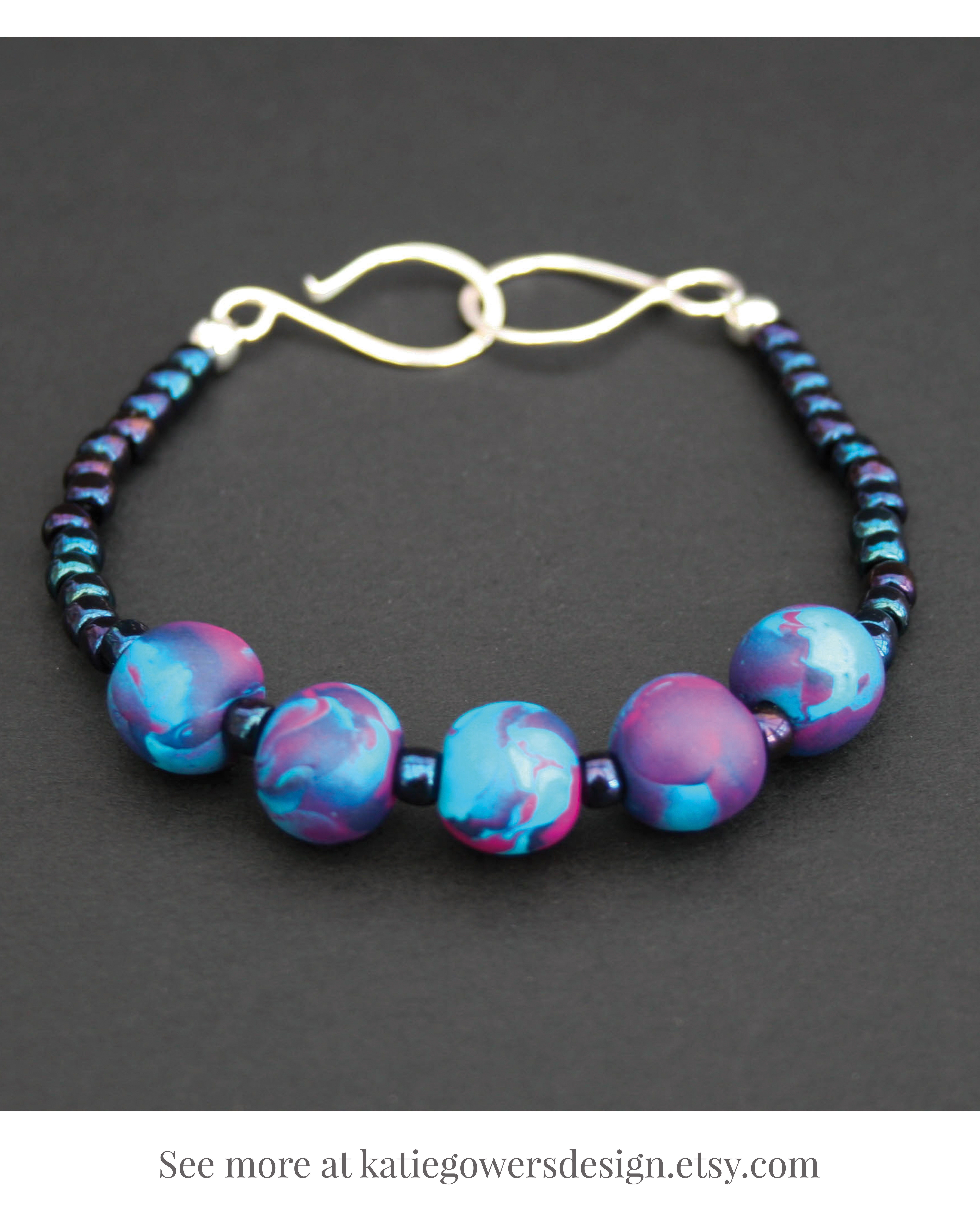 Sets Costume Jewellery Blue And Pink Beaded Necklace And Bracelet