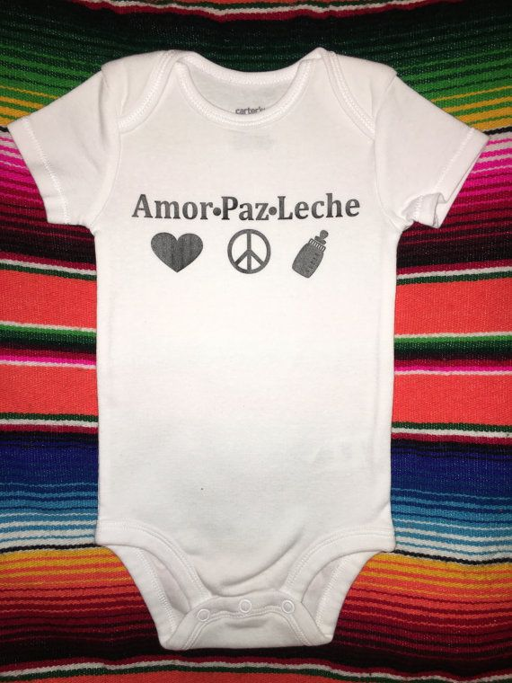 675f42113 Amor-Paz-Leche / baby clothes / onesie / Spanish / by LolitaCShop ...