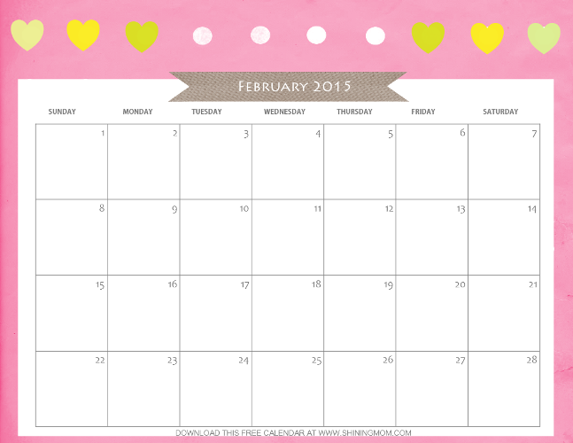 Designs YouLl Love Free Printable February  Calendar