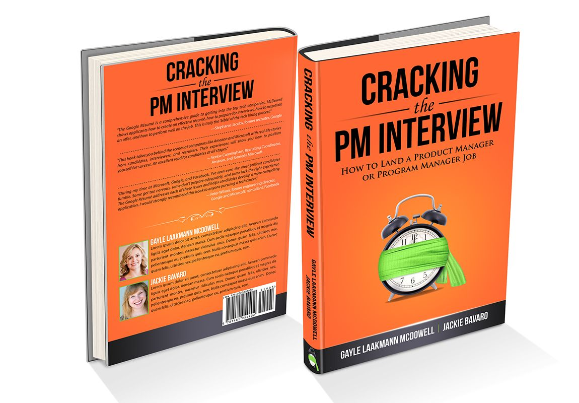 book cover design by angelleigh potd orange bold design by angelleigh new book cover for best selling author cracking the pm interview