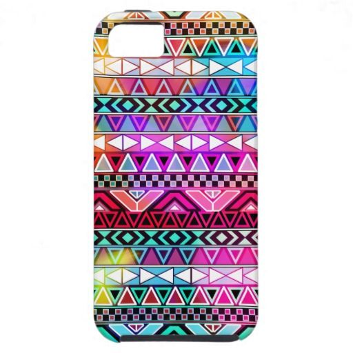 Pink Purple Bright Andes Abstract Aztec Pattern iPhone 5 Vibe Cover $44.95