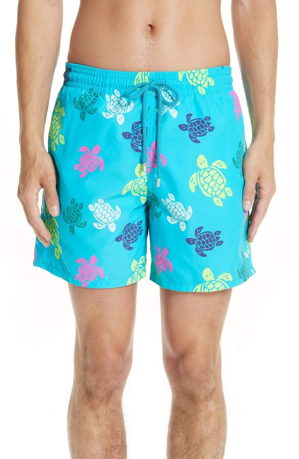 3927caa2b7 Men's Vilebrequin Turtle Print Swim Trunks, Size Small - Blue/green ...
