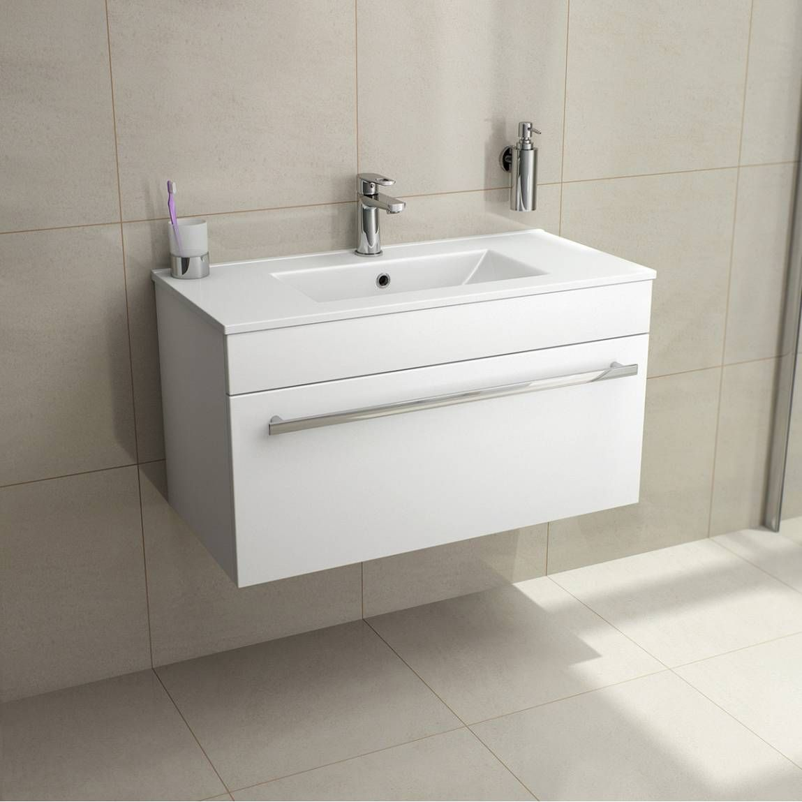 Odessa White Wall Hung 800 Drawer Unit Inset Basin Bathroom Ideas Pinterest Bathroom