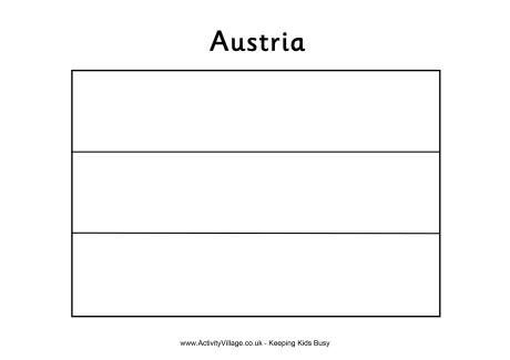 Austria Flag Colouring Page Flag Coloring Pages Austria Flag