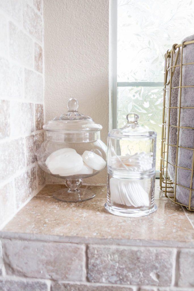 Our Master Bathroom Decor And Bathroom Storage Ideas Master