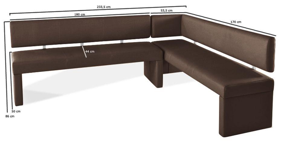 SAM® Eckbank recyceltes Leder braun _cm x 170cm LASABRINA Demnächst