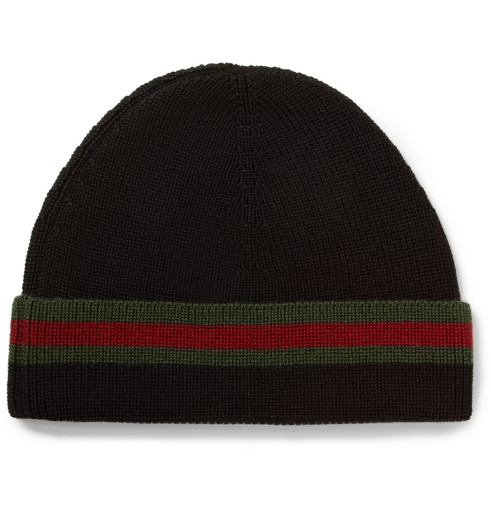 2bf953884e2 Gucci - Striped Wool and Silk-Blend Beanie Hat