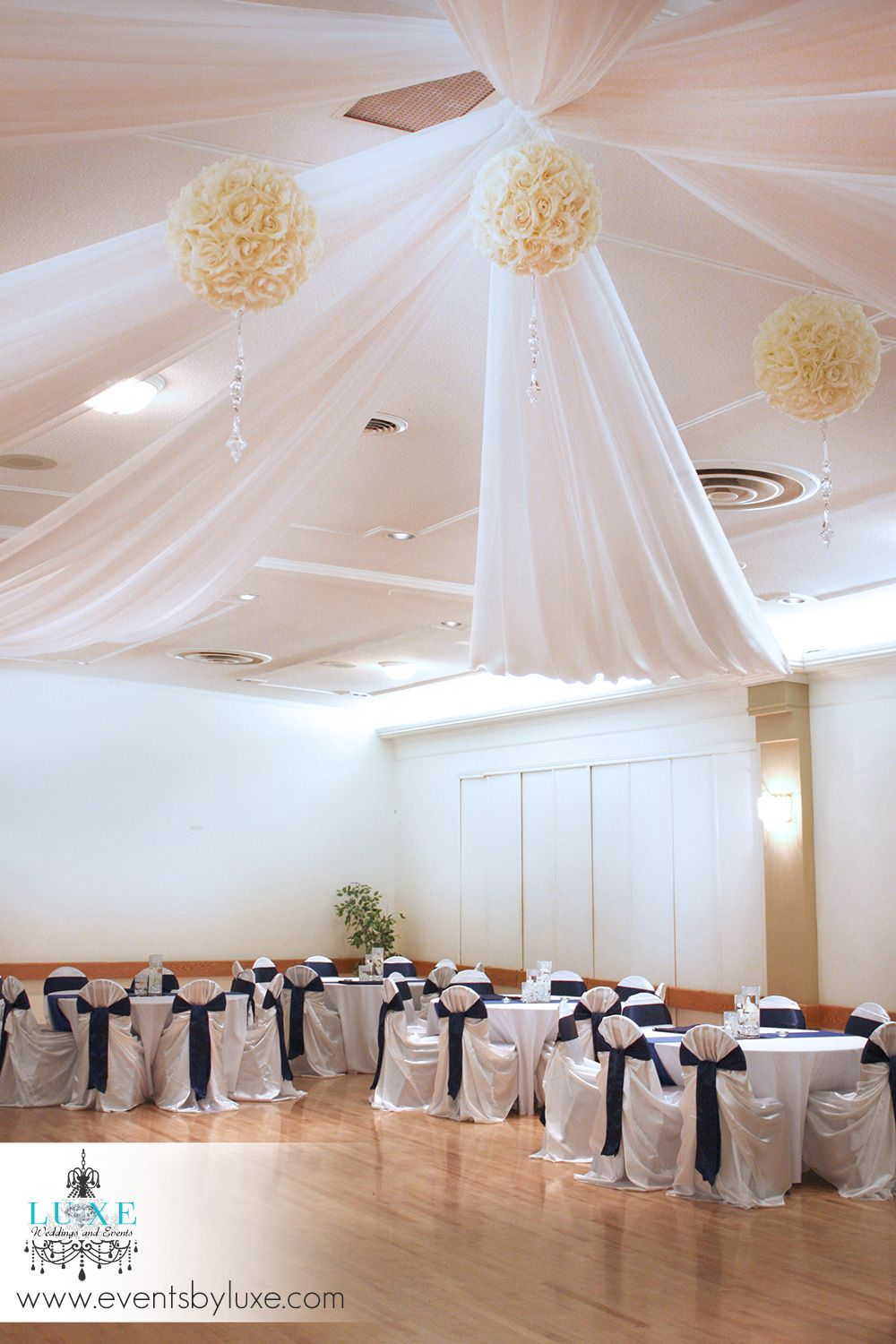 Royal Blue And White Wedding Decor In London Ontario