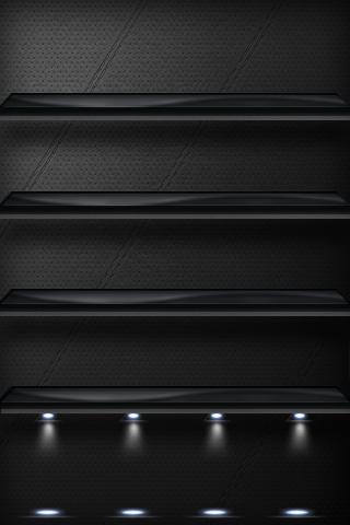 Iphone Shelf Wallpapers In 2019 Black Wallpaper Iphone