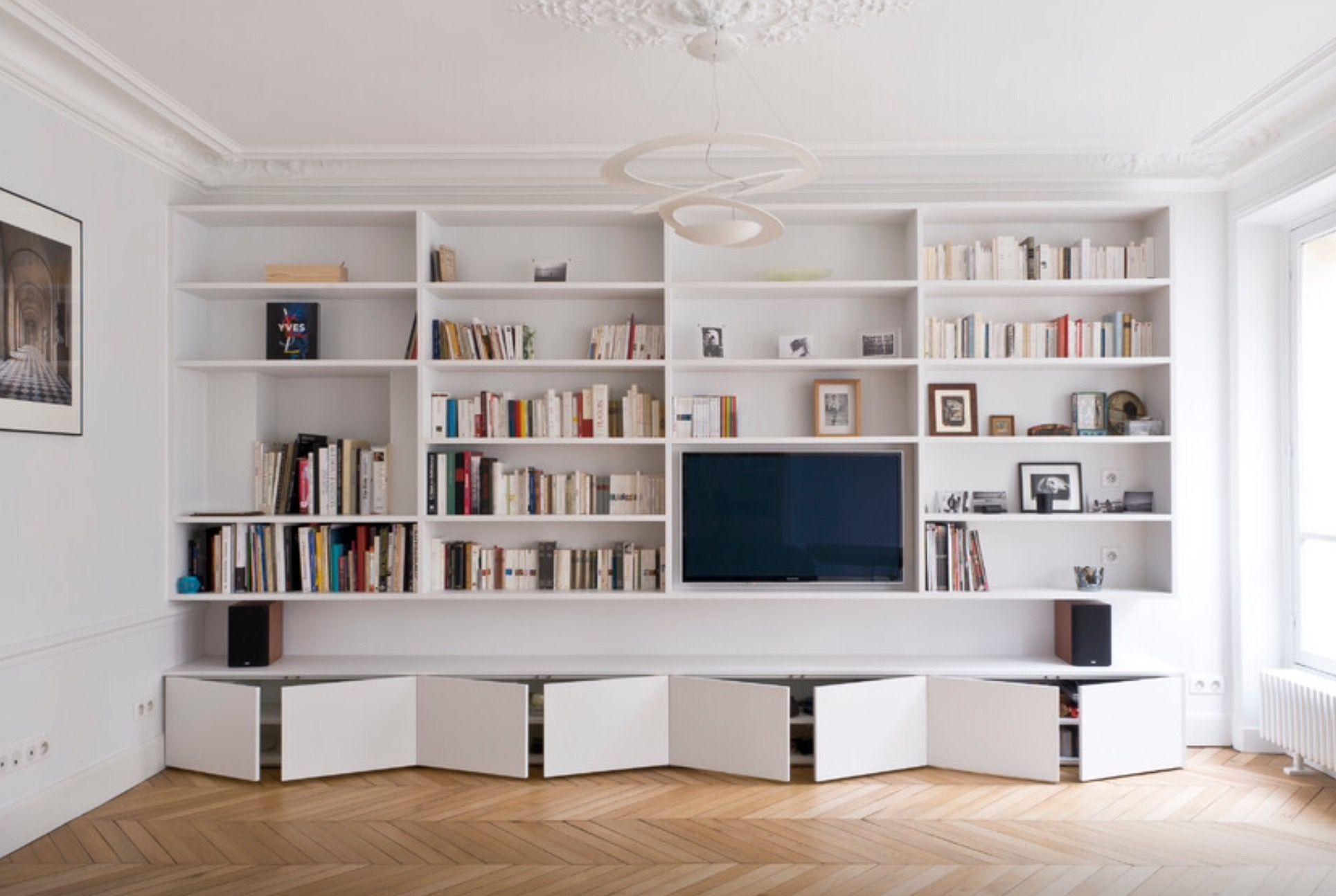 Bibliothèque  Meuble rangement salon, Amenagement salon, Déco maison