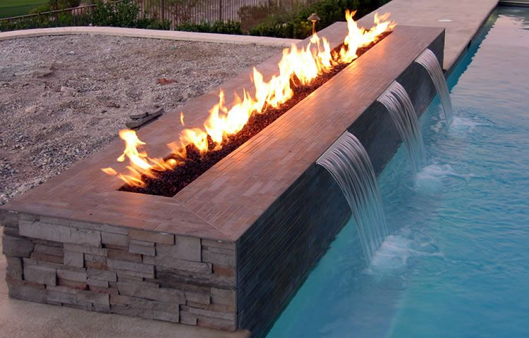 Fire And Water Fountain Outdoor Fire Pit Designs Modern Outdoor