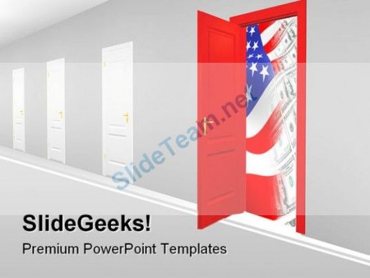 doorway to new business powerpoint template 0910 powerpoint