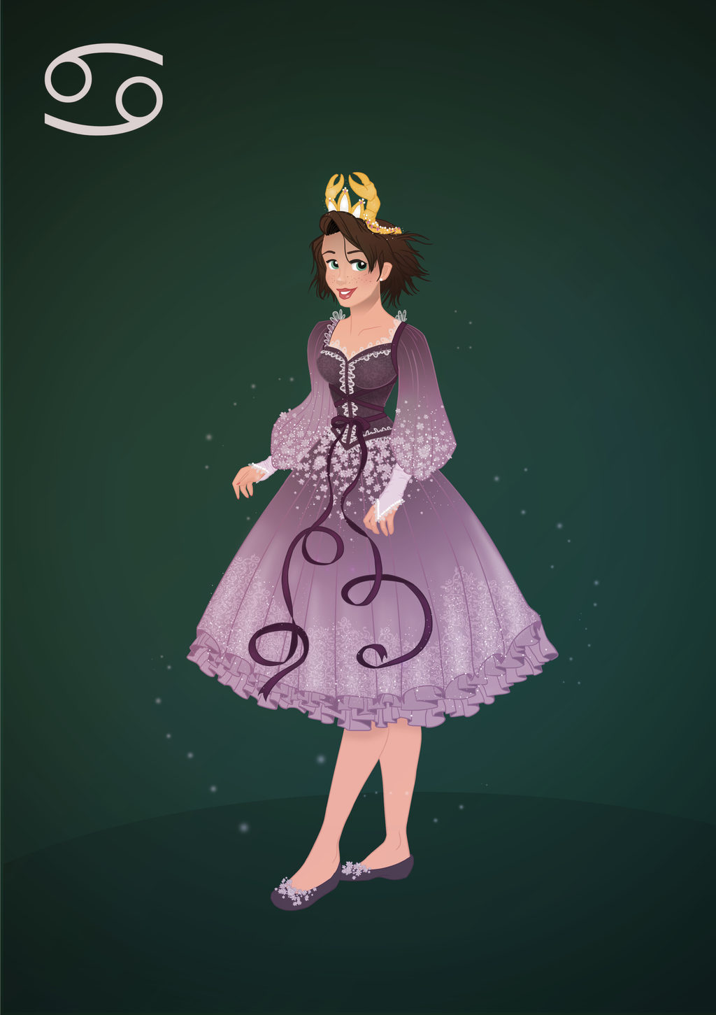 Cancer-Lucy Corsetry (Bishonenrancher) — princessesfanarts: Zodiac Princesses by Grodansnagel