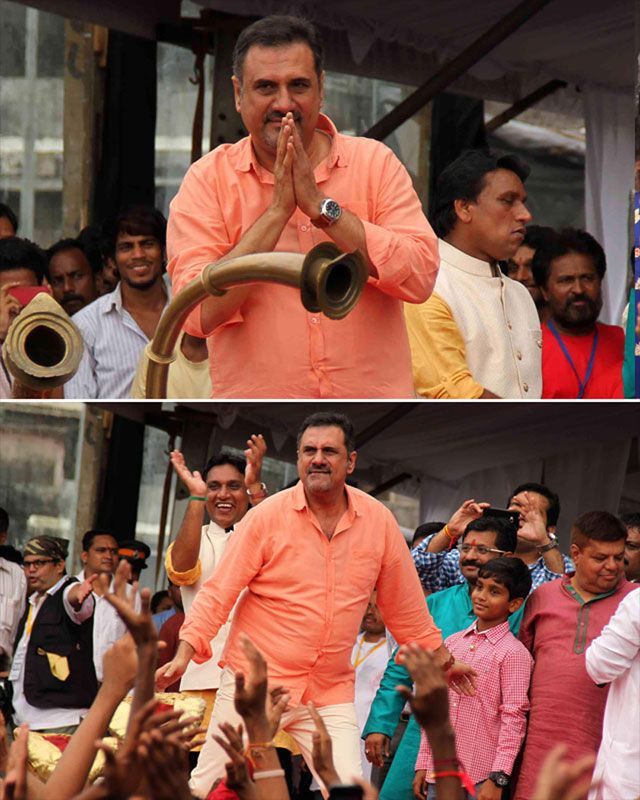 Happy New Year actor Boman Irani enjoys himself during the Dahi handi celebrations. It was a double celebration for him as he also celebrated Parsi New Year yesterday.