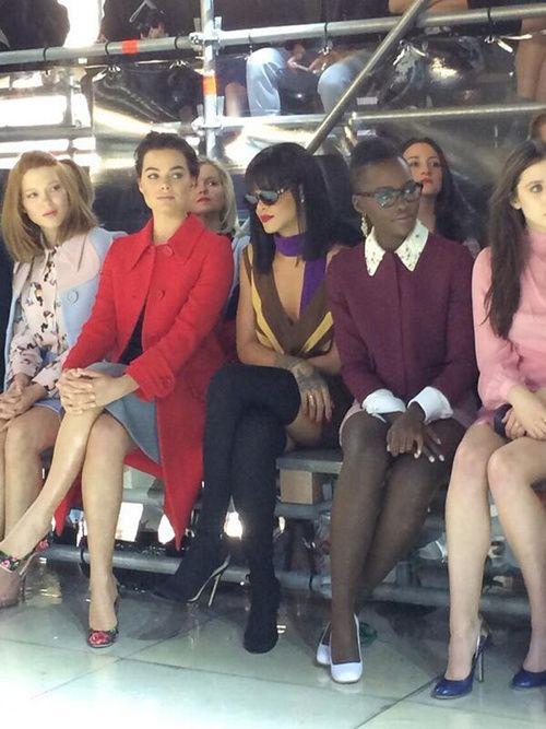 Rihanna & Lupita Nyong'o Front Row at Miu Miu - Paris FAshion Week