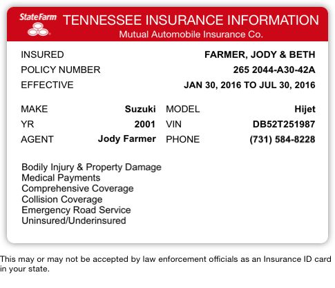 Your State Farm Insurance Card Is Attached State Farm Insurance