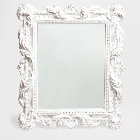 rectangular white mirror mirrors decor and pillows. Black Bedroom Furniture Sets. Home Design Ideas