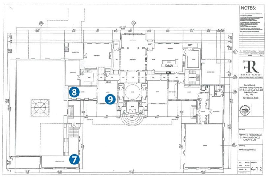 Drake Building 21 000 Square Foot Mega Mansion In Toronto Canada Video Floorplans Hotr Mega Mansions Mansions Mansion Floor Plan