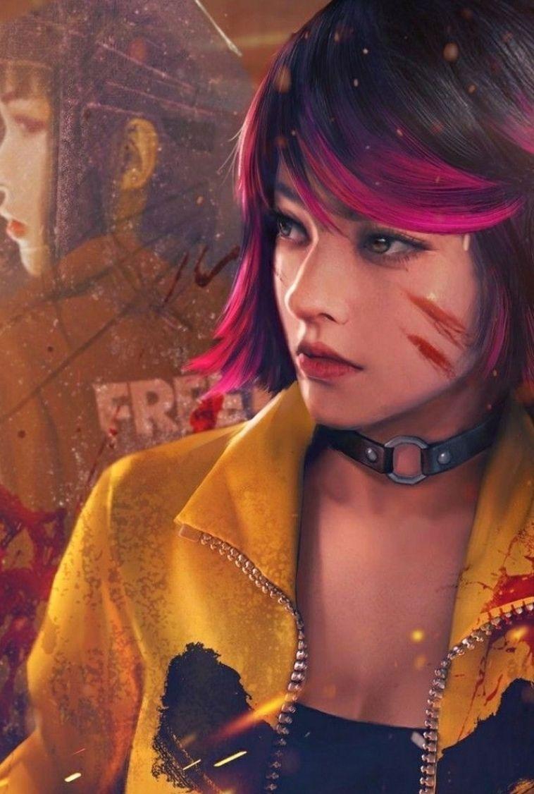 Freefire Kelly In 2021 Fire Art Download Cute Wallpapers Girl Iphone Wallpaper