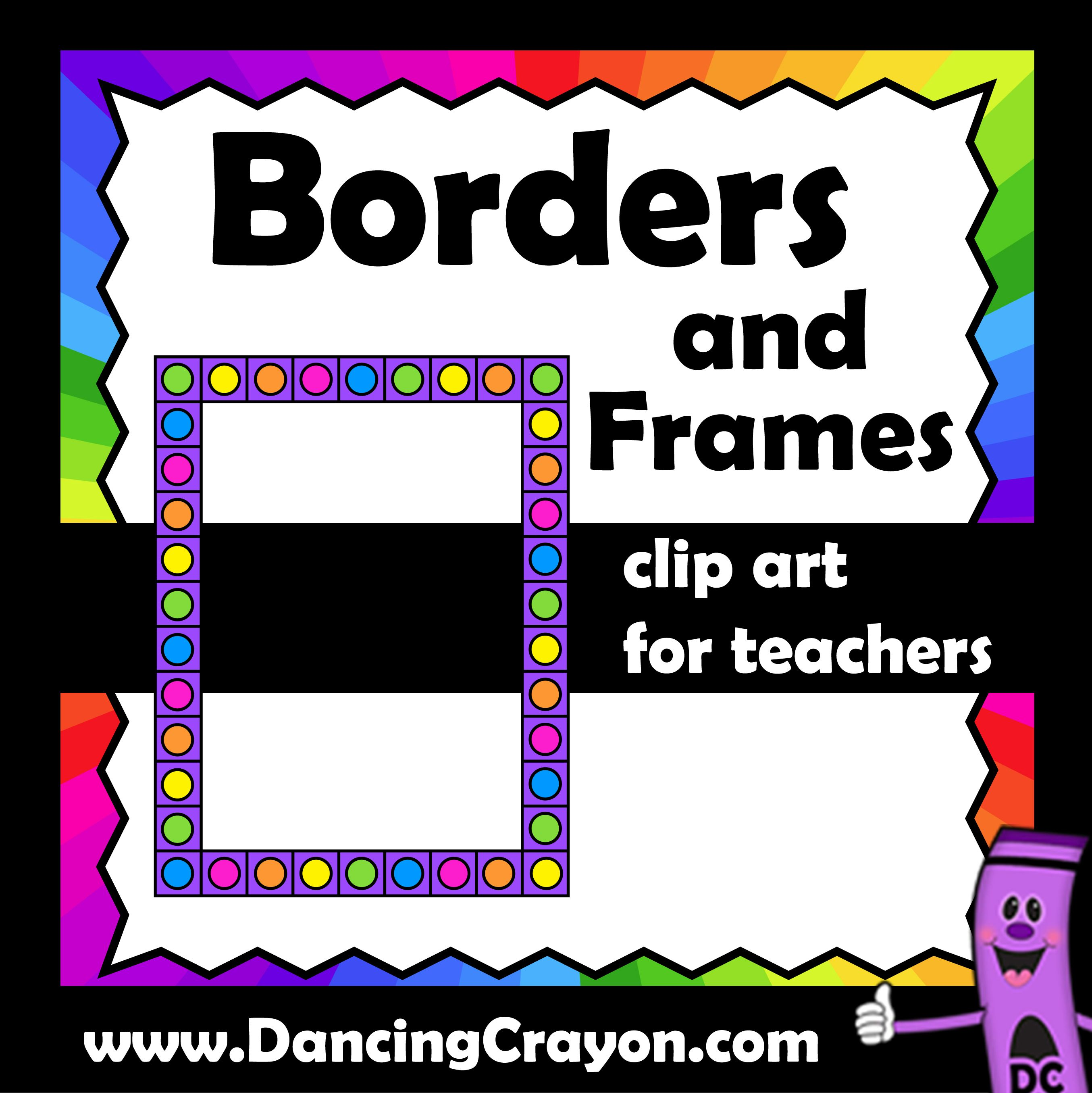 Borders And Frames Clip Art For Teachers Bright And