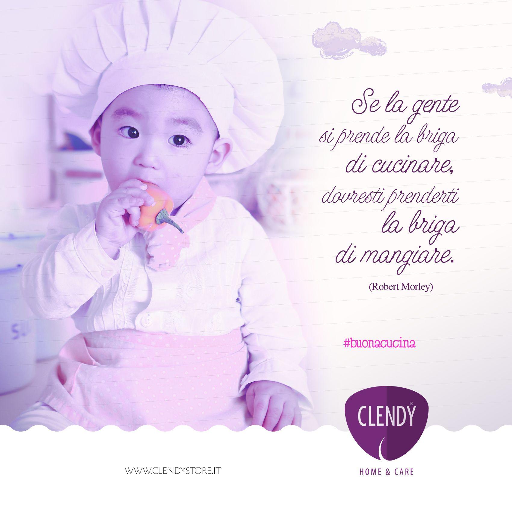 """""""Se la gente si prende la briga di cucinare, dovresti prenderti la briga di mangiare"""" (Robert Morley) #aforismi #clendy #quotes #citazioni #cucina #mangiare #dieta #riflessioni #umorismo www.clendystore.it"""