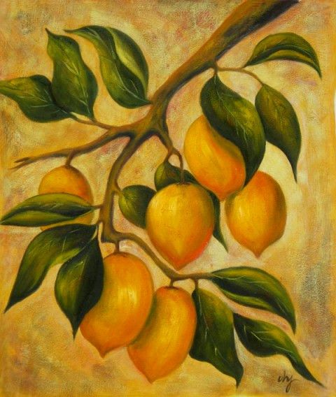36x24 Lemon Fruit Oil Painting Canvas Art Wall Hanging 80