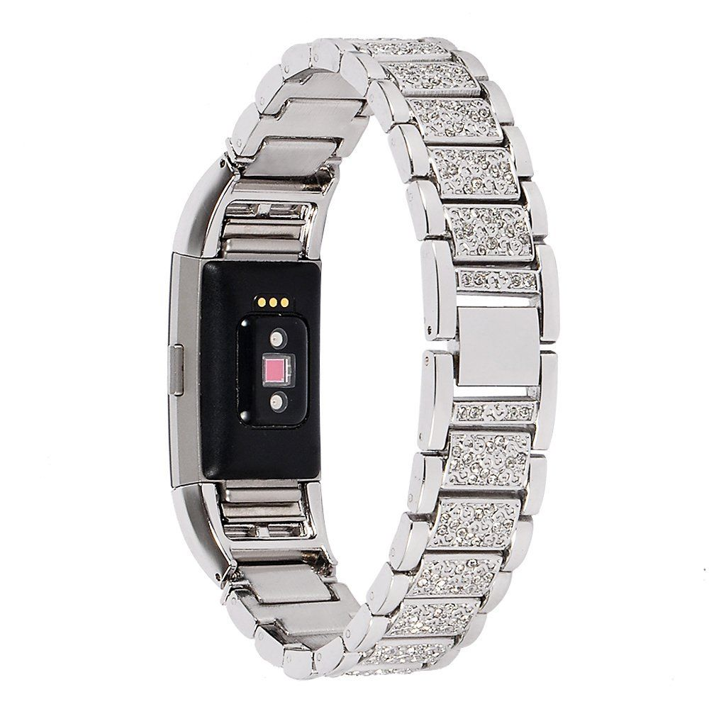 Silver rose gold stainless steel bracelet wrist bands with adapter