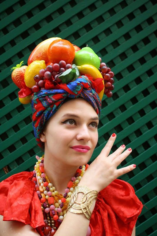 3326b9a8997 Ideas   Accessories for your DIY Carmen Miranda Halloween Costume Idea