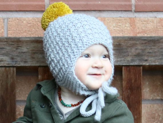 Baby Hat Pattern Pdf Knitting Pattern Pom Pom Hat Pattern Earflap